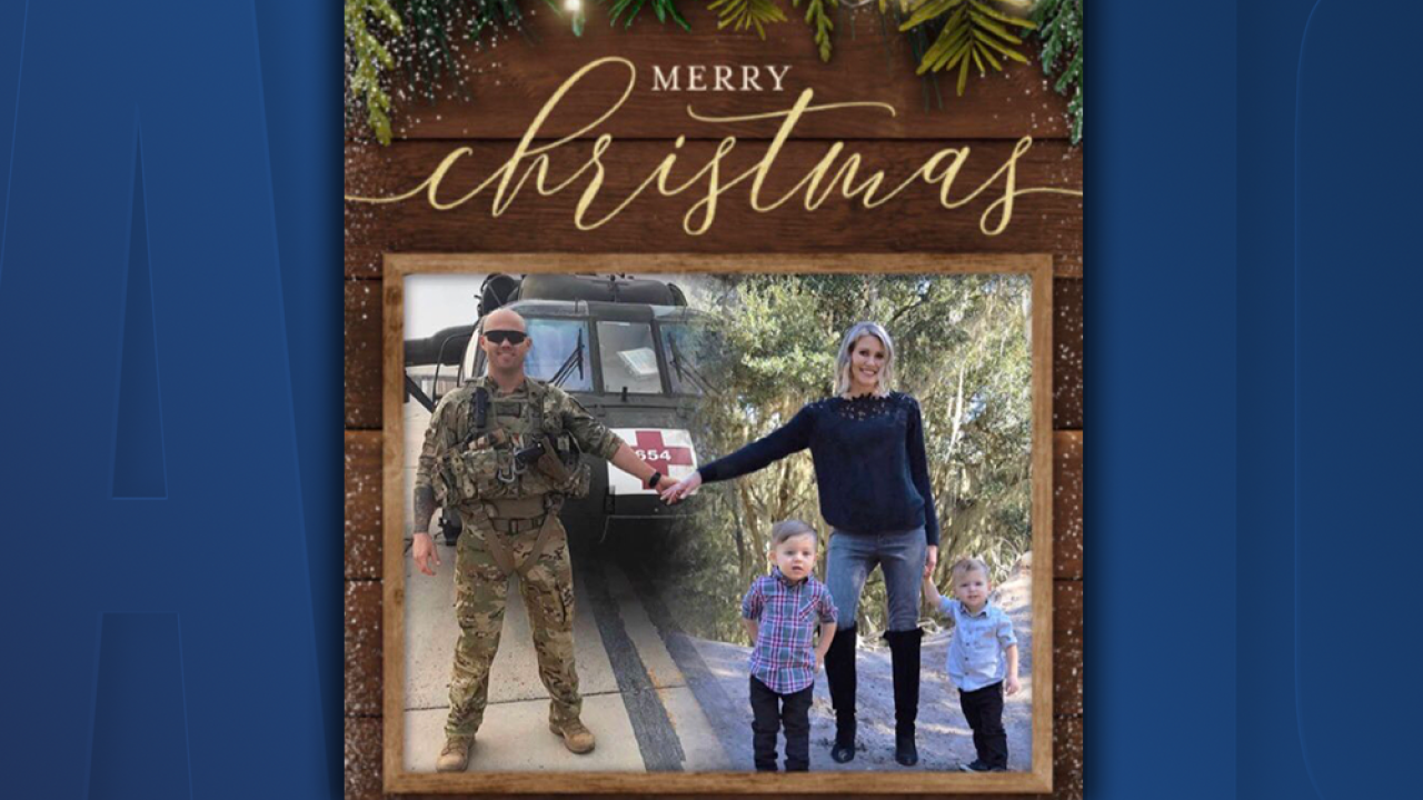 Florida military wife edits family Christmas photo to include husband serving overseas