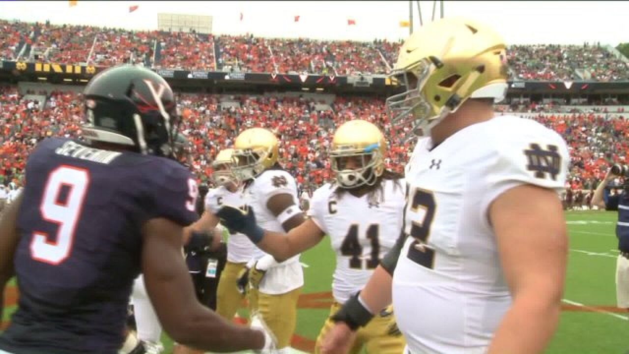 UVa. loses heartbreaker to 9th ranked Notre Dame