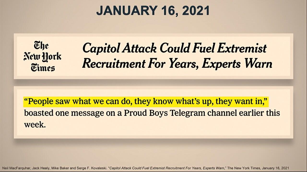 capitol attack could fuel extremist recruitment impeachment