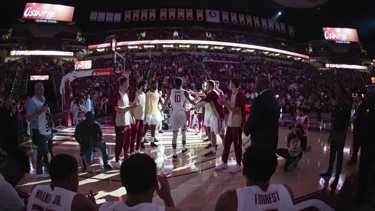 FSU Men's Basketball by Mike Olivella