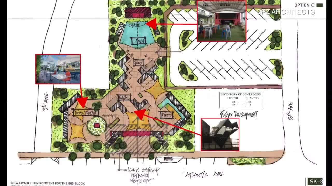 800 block of Atlantic Avenue sketch 3