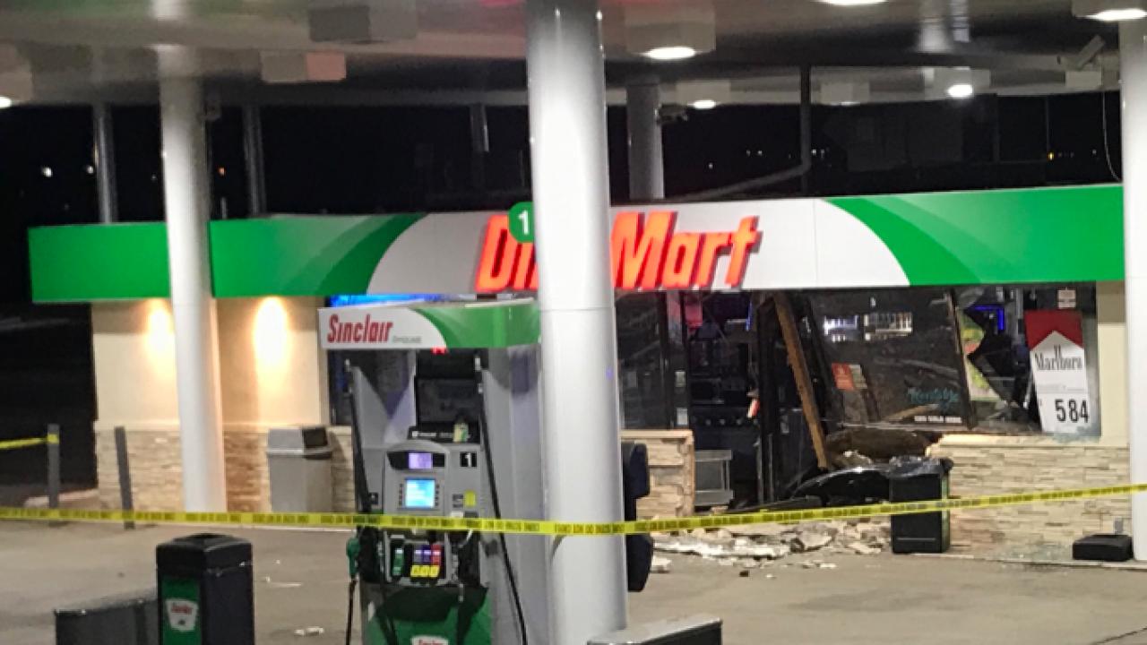 DinoMart JeffCo burglary and vehicle crash