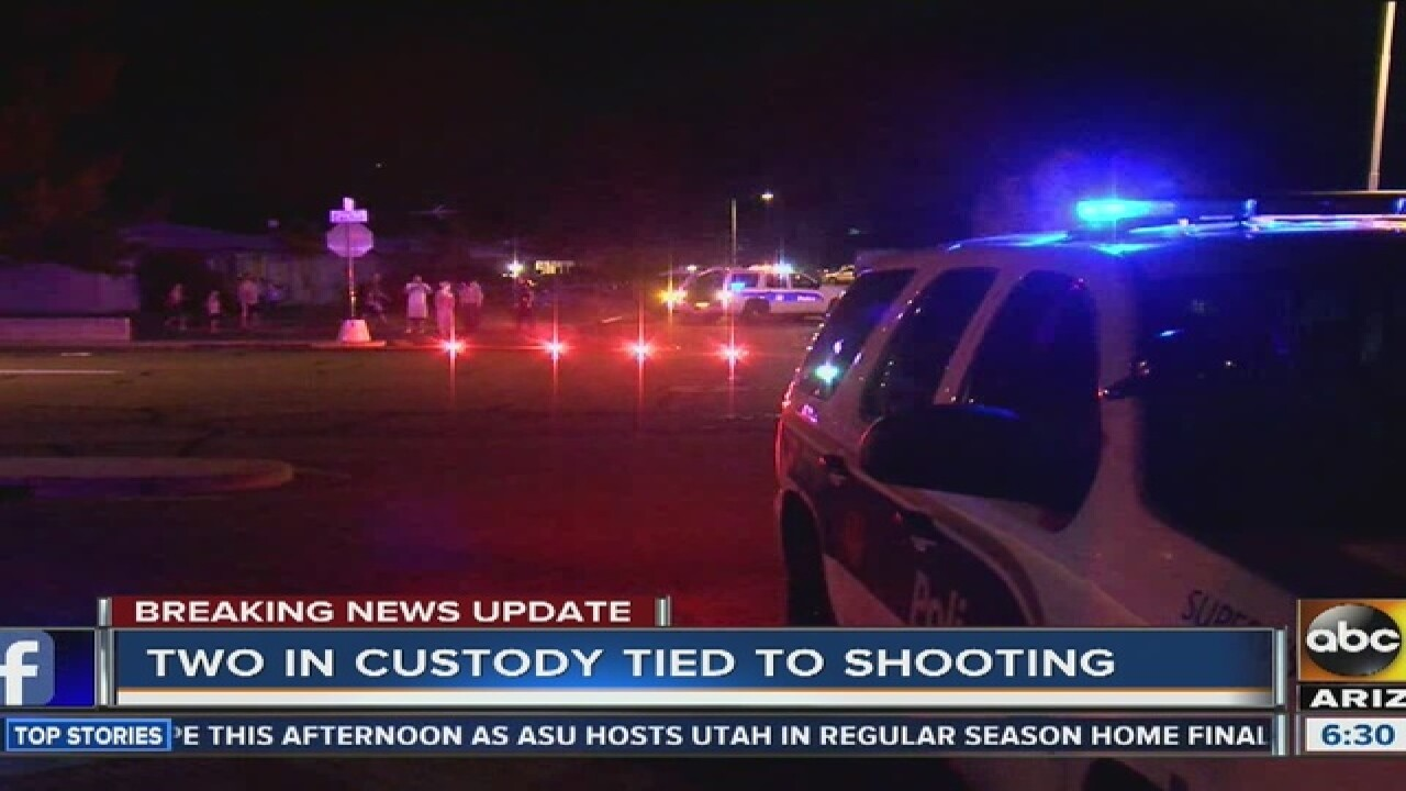 Officials: Man shot in Phoenix; suspect at large