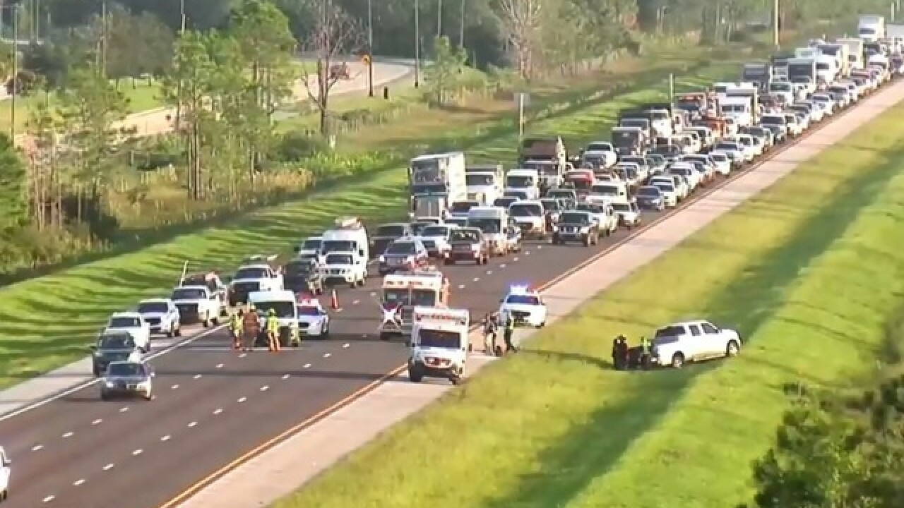 Crash on southbound I-75 is blocking traffic in Bonita Springs