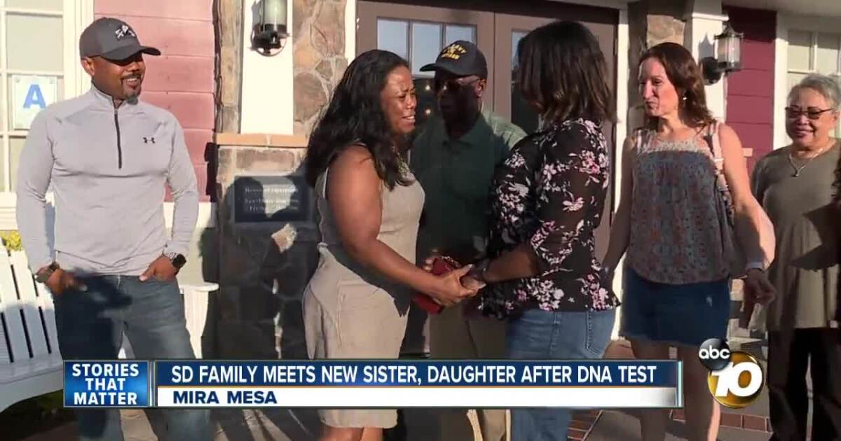 San Diego woman meets sister for first time after DNA test