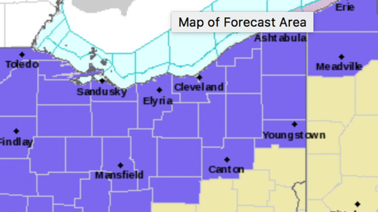 Winter Weather Advisory issued for Northeast Ohio on Thursday