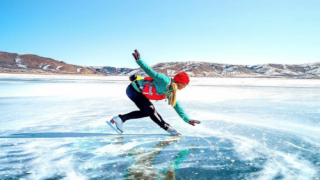This Ice Skater Performs On Mountain Lakes—and The Photos Are Unbelievable
