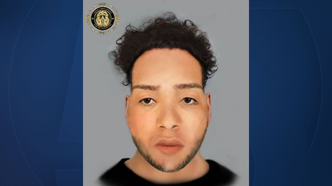 Composite sketch of victim of fatal pedestrian crash on Jog Road