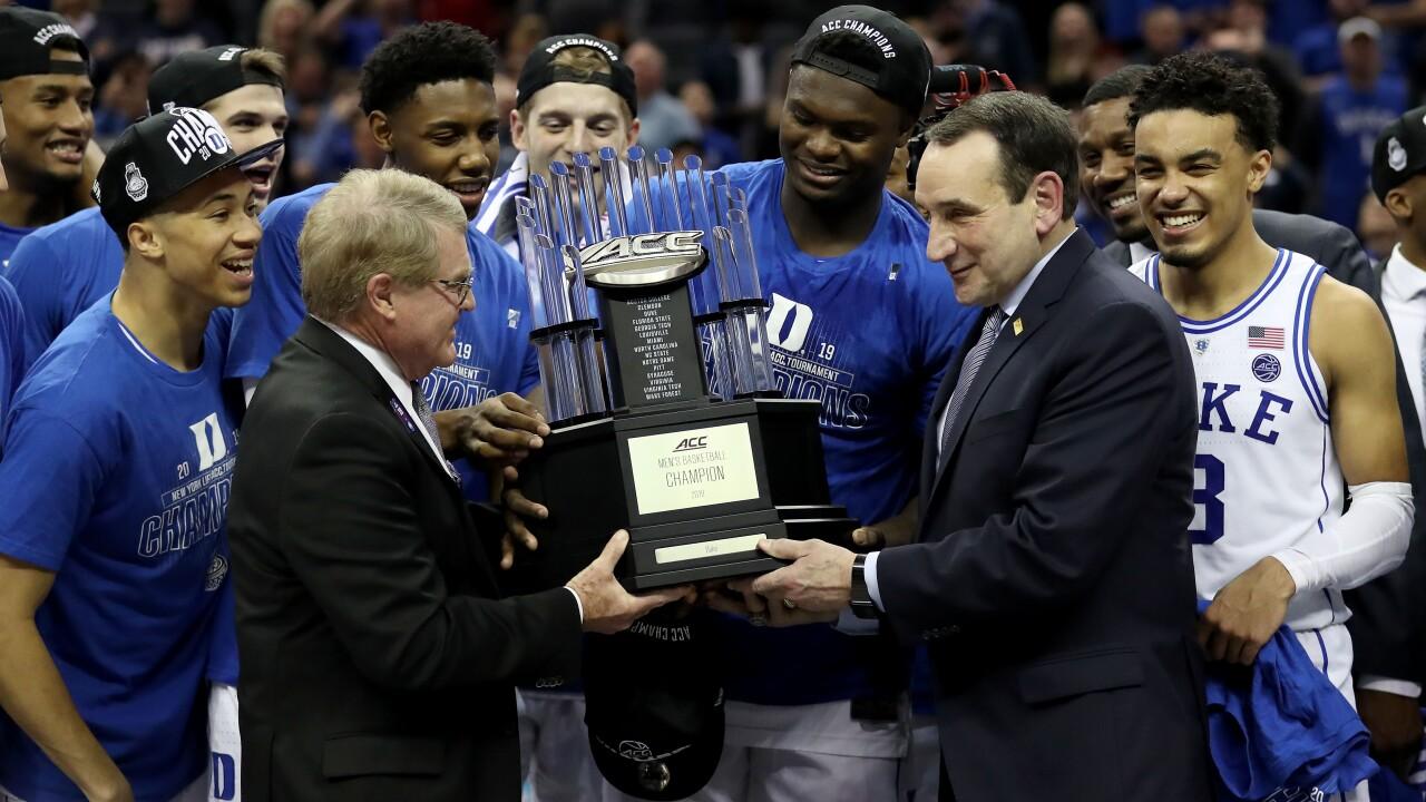 Duke earns No. 1 overall seed in NCAA men's basketballtournament