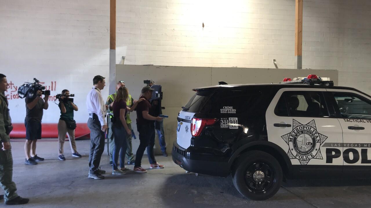 Metro Police run reporters through use-of-force training.jpg
