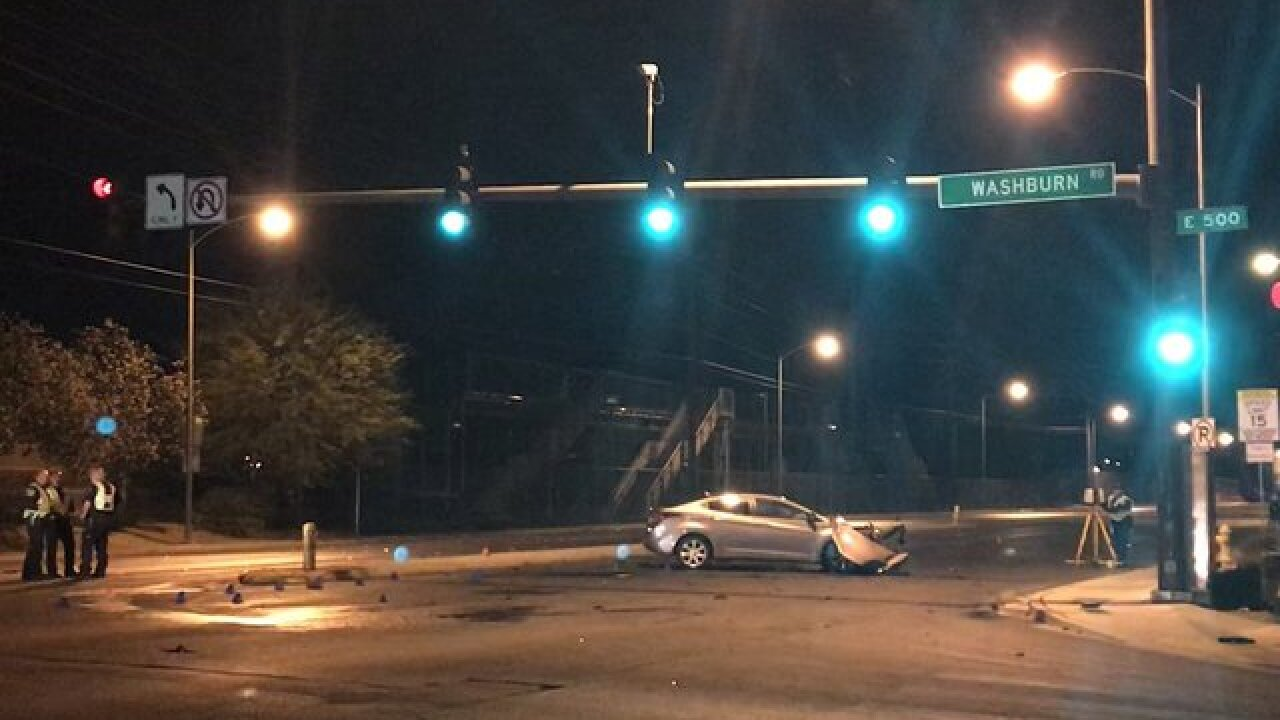 Teen in critical condition after NLV wreck