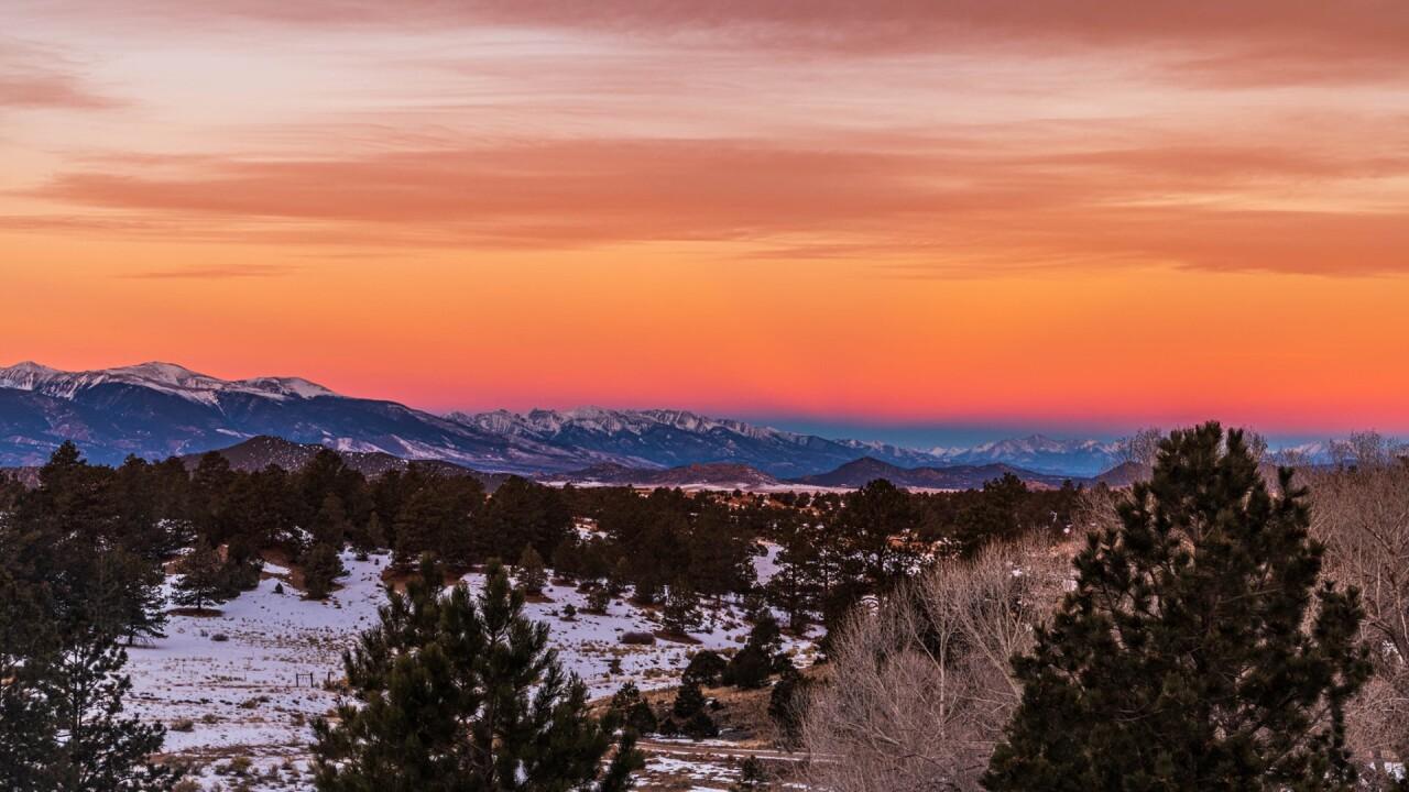 Colorful Westcliffe sunrise