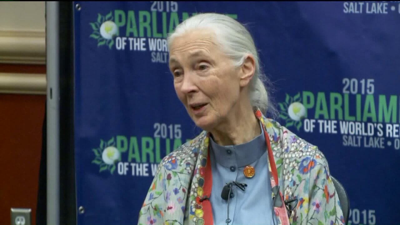 Jane Goodall speaks at Parliament of World Religions in Salt LakeCity