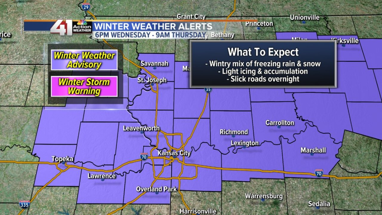 Winter weather advisory Jan. 16