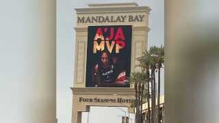 A'ja Wilson MVP Mandalay Bay sign.jpg