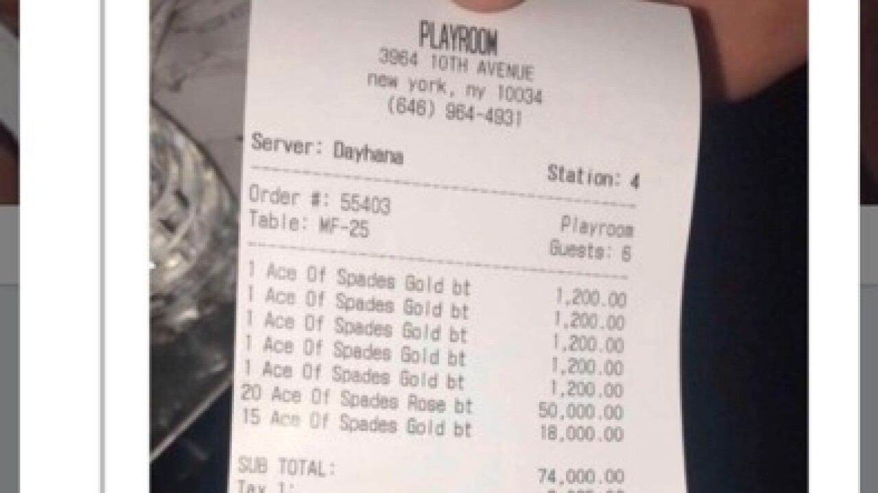 Jay-Z racks up epic bar tab for 40 bottles of champagne brand he owns