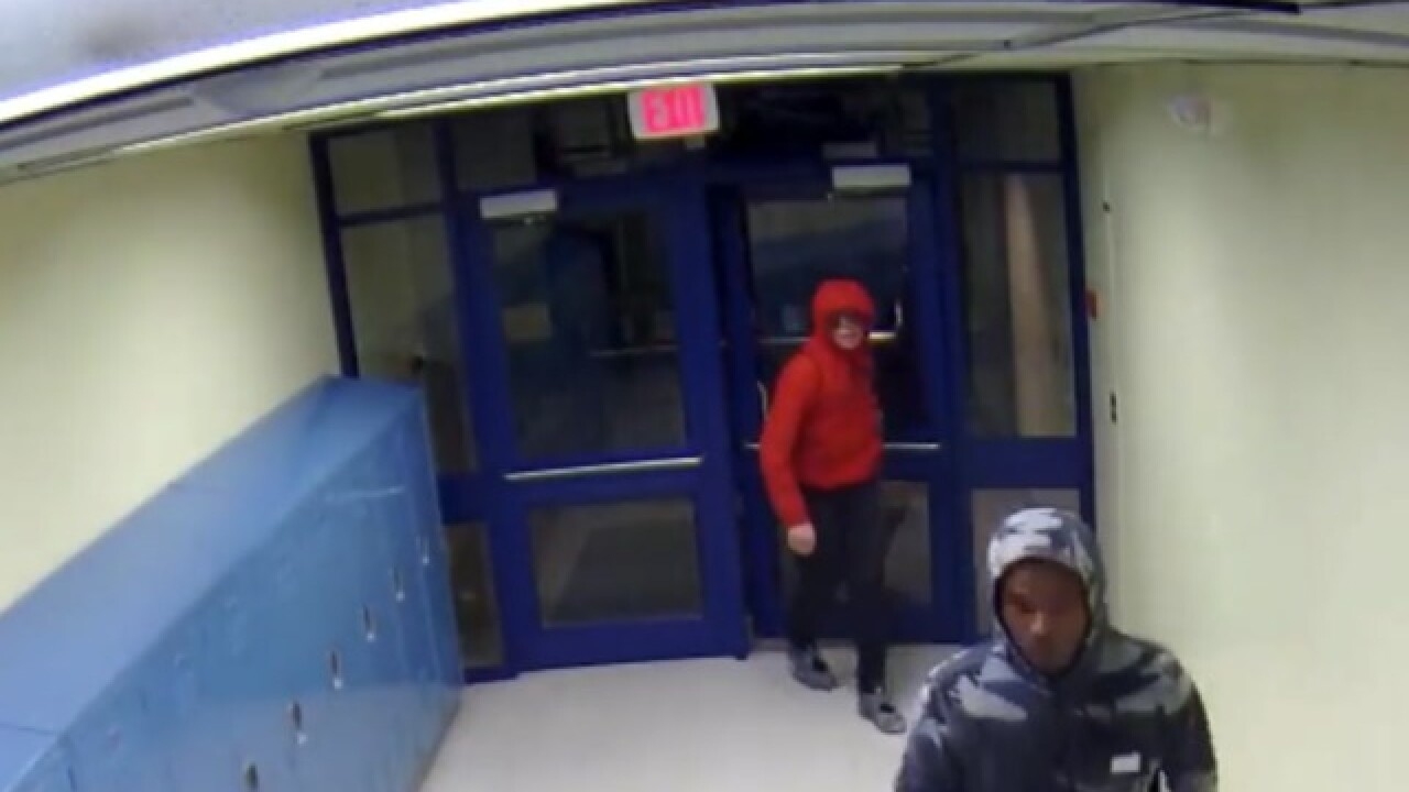 Hooded suspects steal iPads from Romulus school