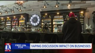 Local vape shop says business is 'steady' despite alarm over the consequences ofvaping