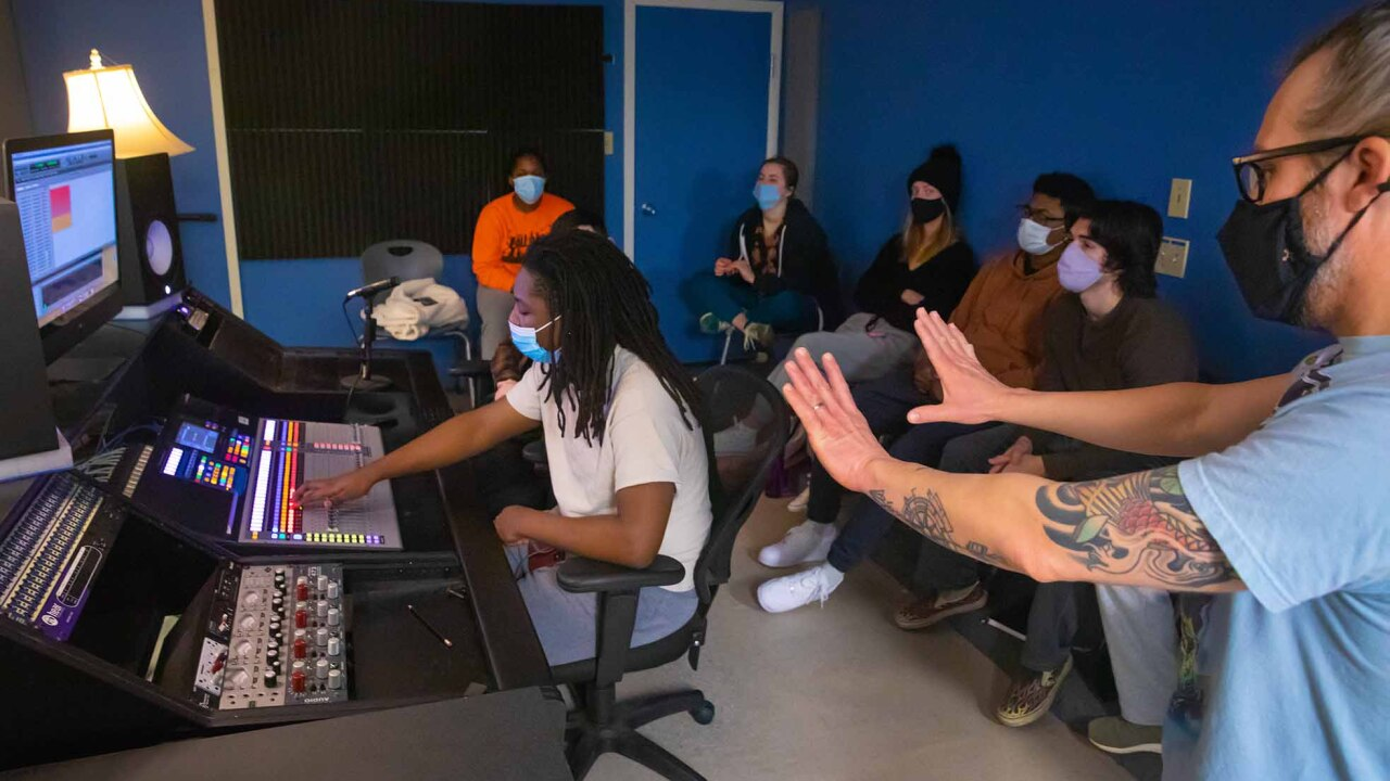 UL Lafayette's new recording arts concentration is designed for students pursuing a bachelor's degree in music who want to work in audio production careers. Courses for the new concentration will begin this fall. Photo credit: Doug Dugas / University of Louisiana at Lafayette