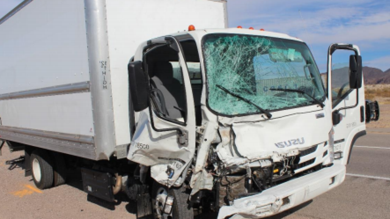 Fatal cyclist US 95 box truck.PNG