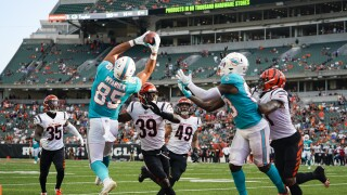 Miami Dolphins tight end Chris Myarick catches game-winning TD at Cincinnati Bengals in 2021 preseason