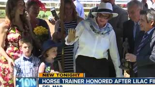 Del Mar honors trainer who saved horses in Lilac Fire