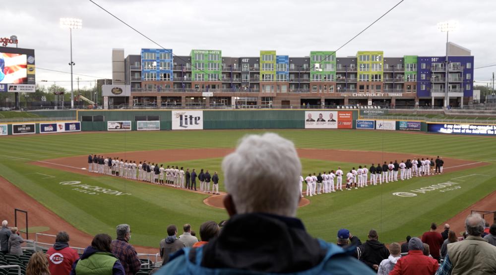 National Anthem at the Lansing Lugnuts game