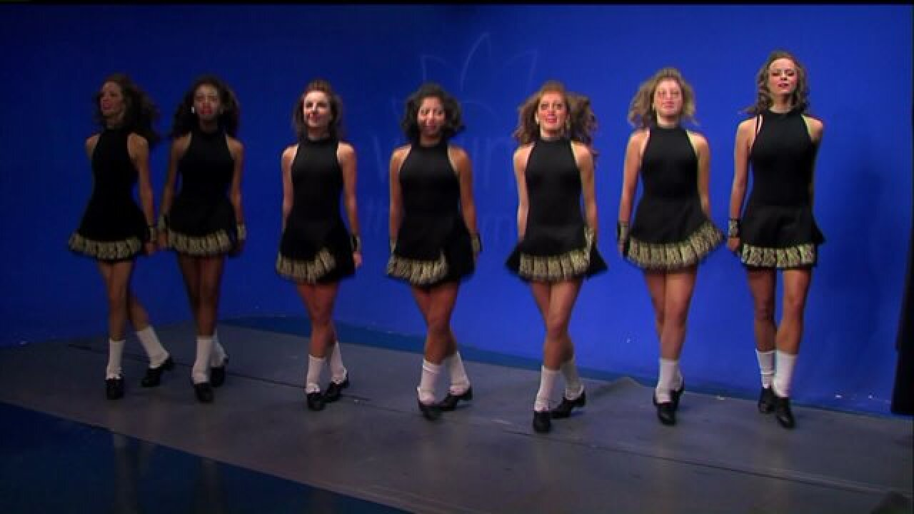 Ladies from Baffa Academy shared some fancy footwork with a traditional Irishdance