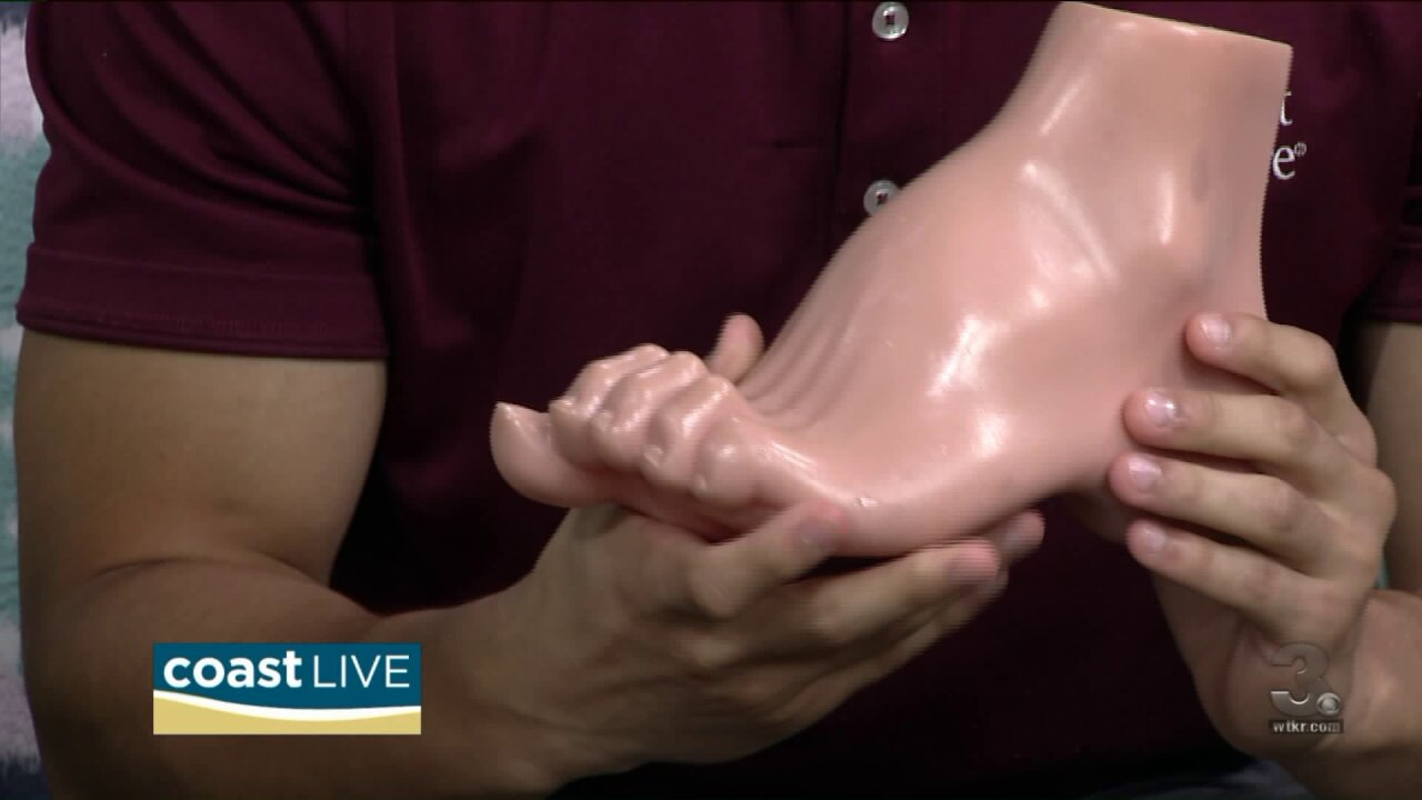 The top three foot problems for men on Coast Live