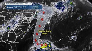 Track Of Developing Hurricane Henri