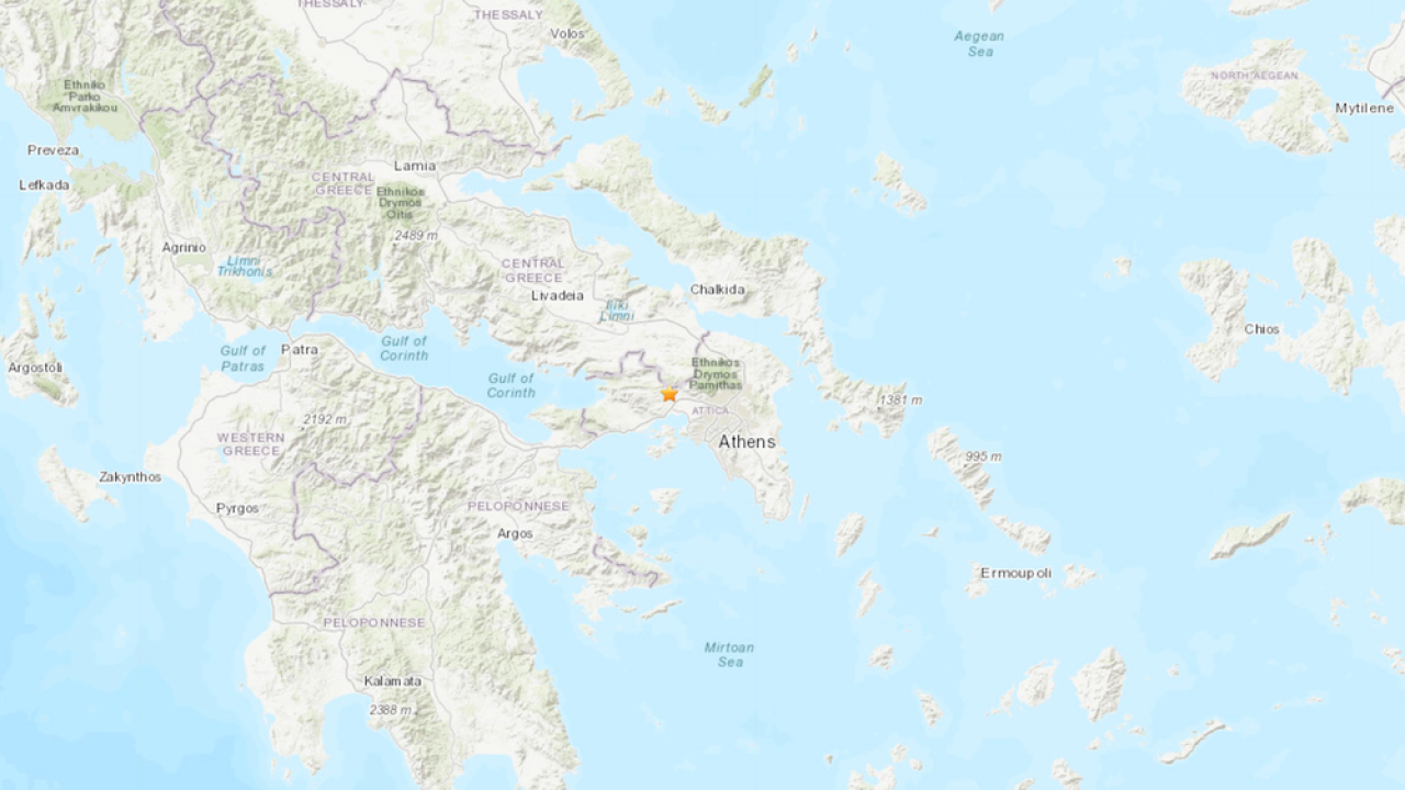 Large earthquake shakes Greece