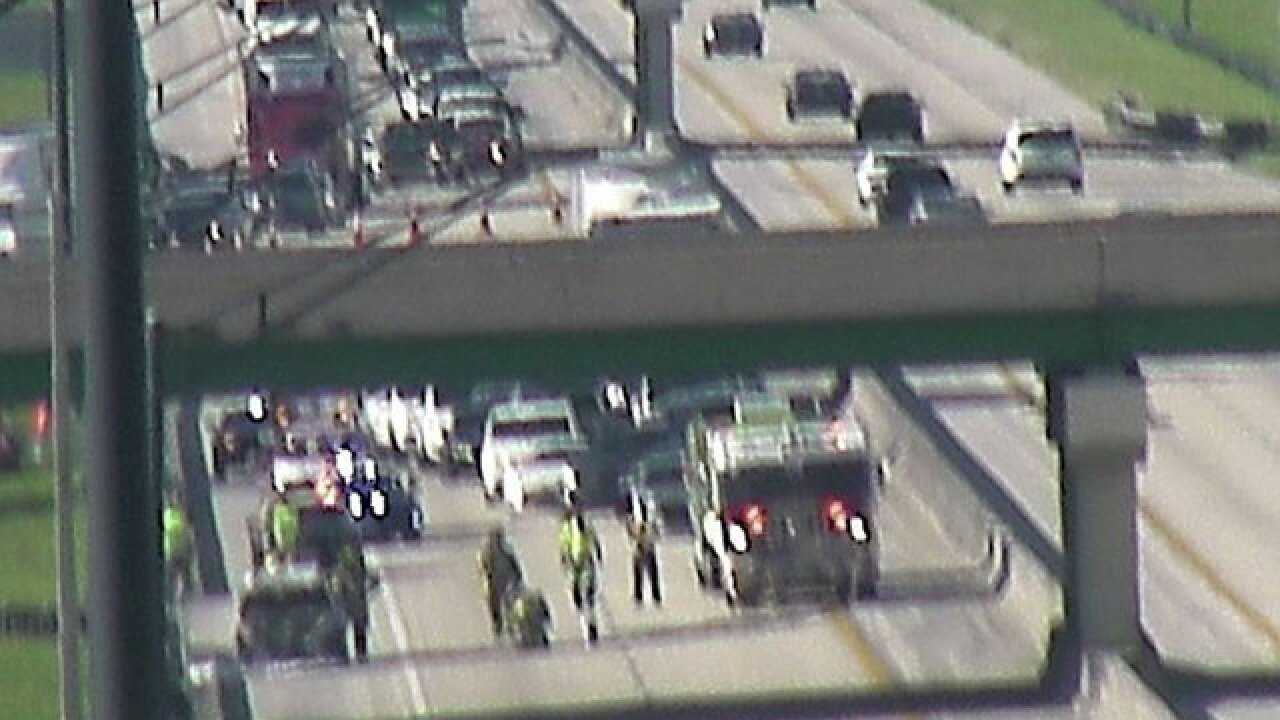Vehicle fire shuts down Florida Turnpike SB in Palm Beach County