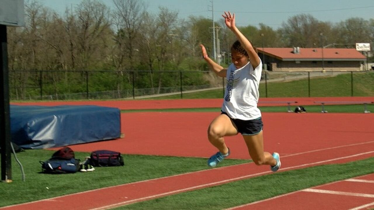 William Chrisman track & field crushes records