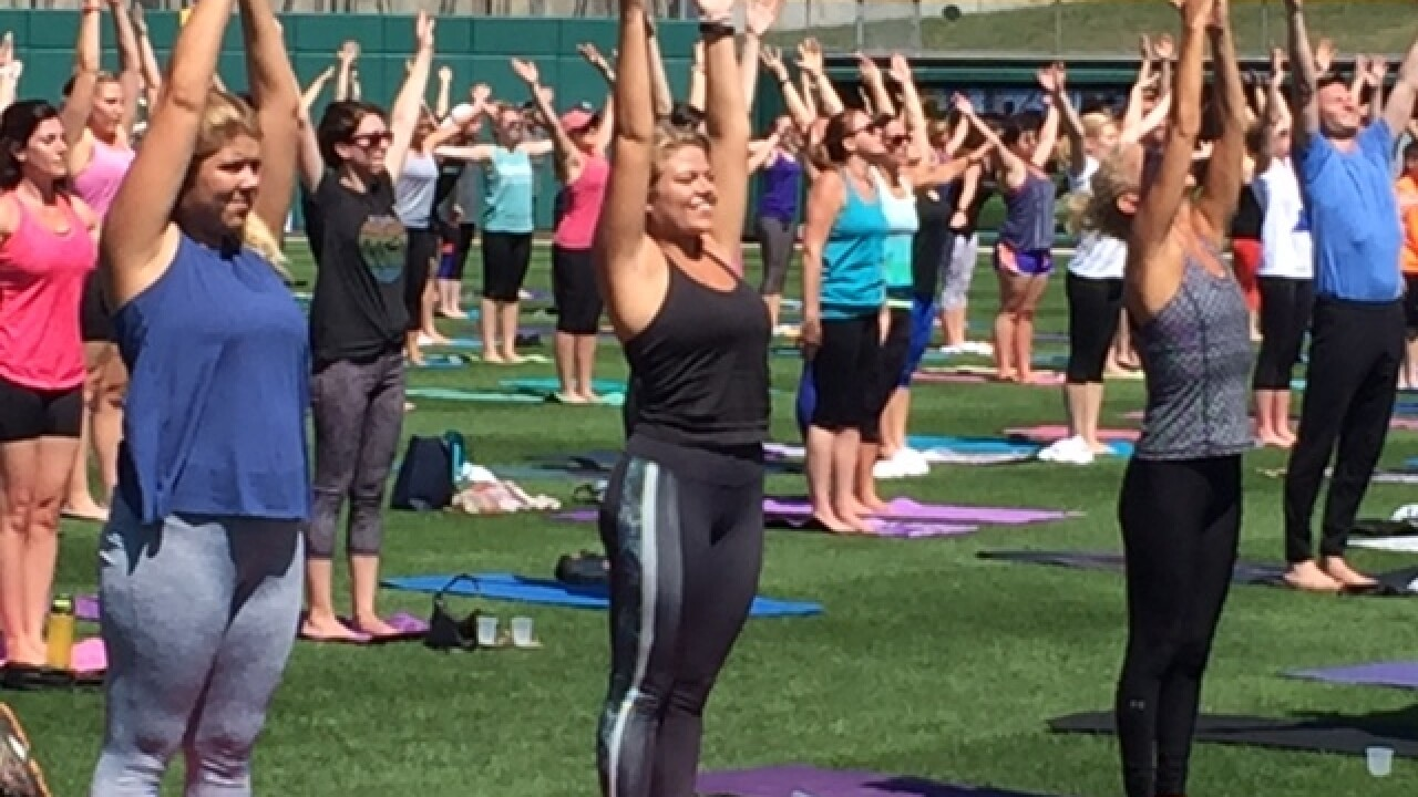 PHOTOS: Yoga at Victory Field