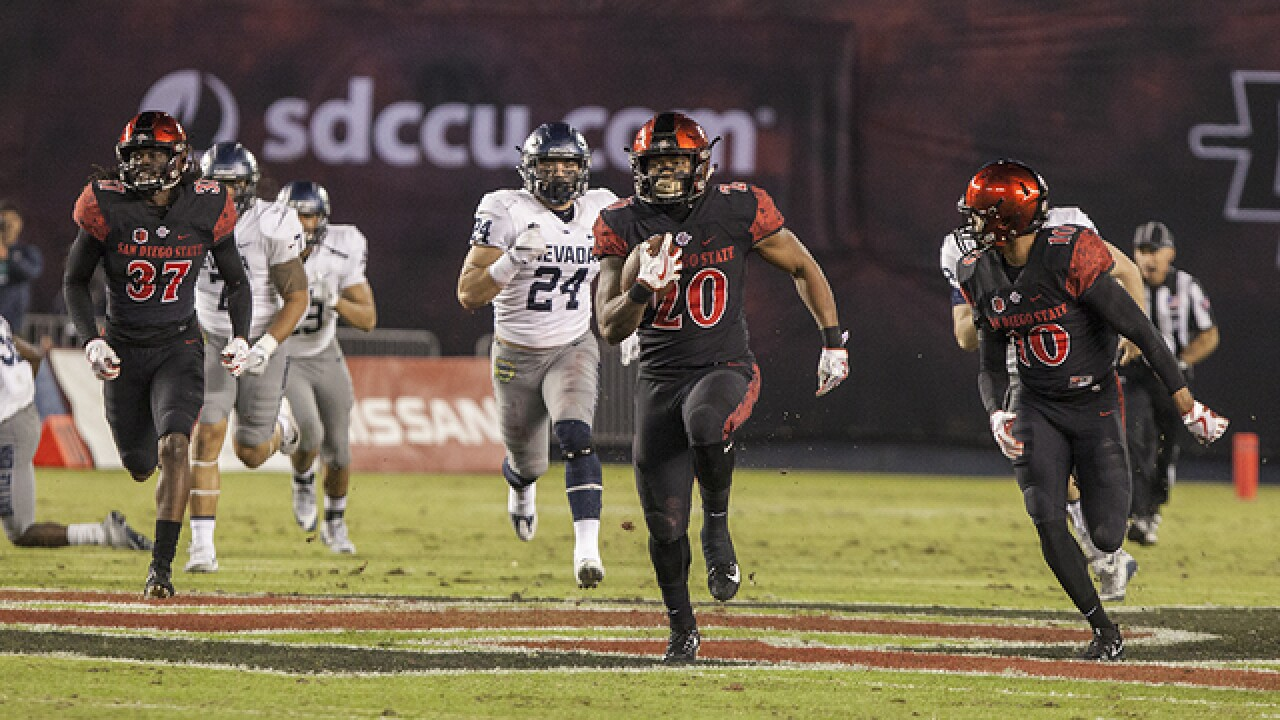 Rashaad Penny makes history in SDSU victory over Nevada, 42-23