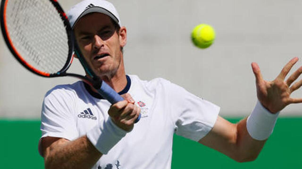 Murray to defend gold against del Potro