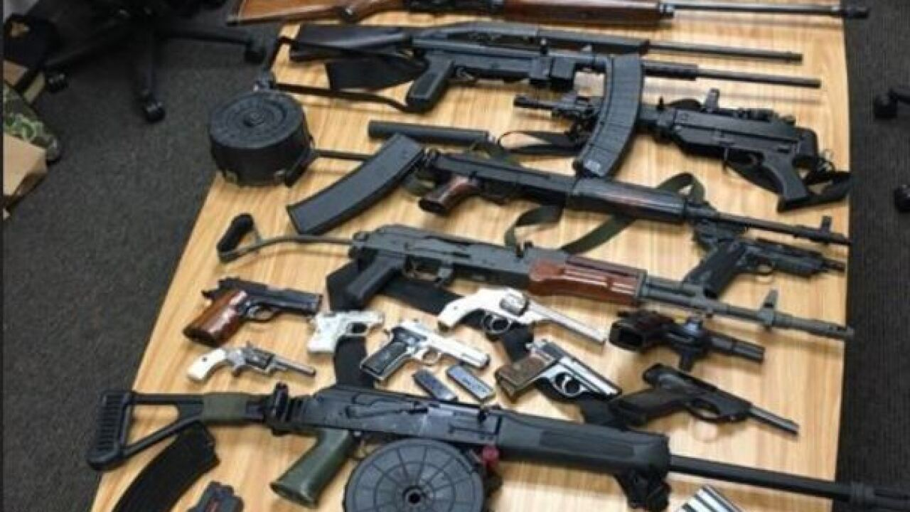 Guns, ammo, drugs seized from Dodge County home