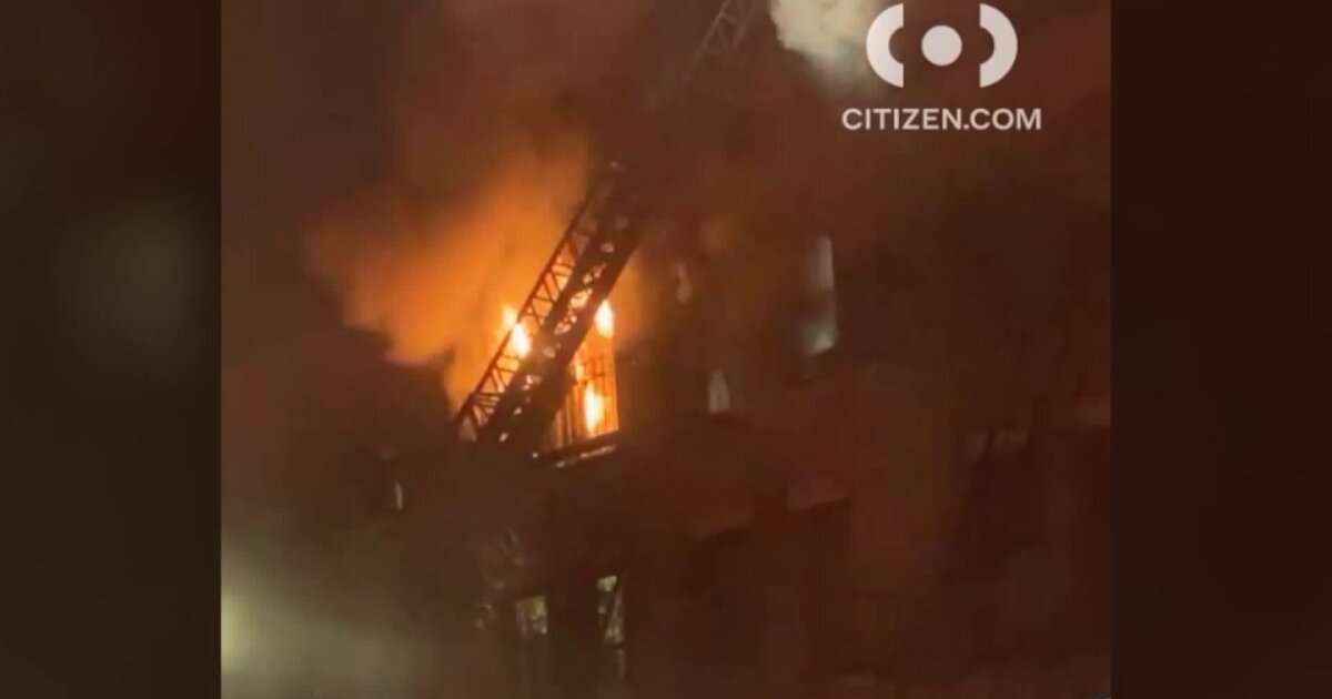 Fire forces Harlem residents out in freezing temps