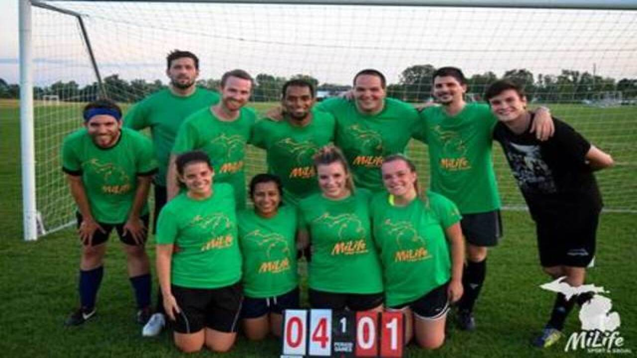 Sparrow IT takes top honor in soccer league