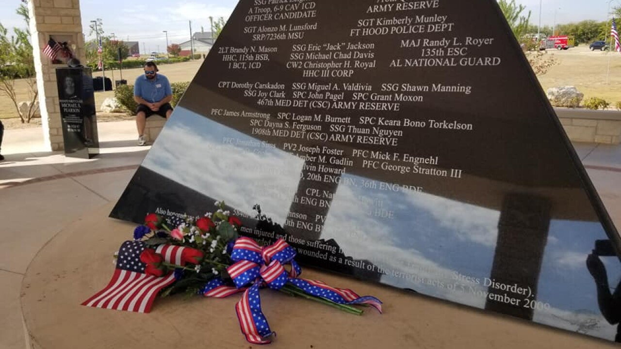 Fort Hood Memorial Ceremony - Remembering those who died in the shooting 10 years ago on Nov. 5, 2009 (Photo by: Maggie Cole, KXXV).