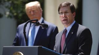 Trump tweets that Sec. of Defense Mark Esper has been 'terminated'