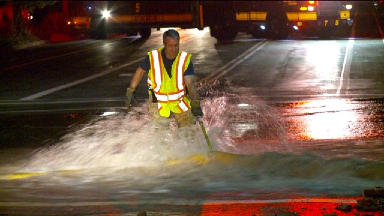 Water main break sends estimated 2.5 million gallons into homes, a nearby school