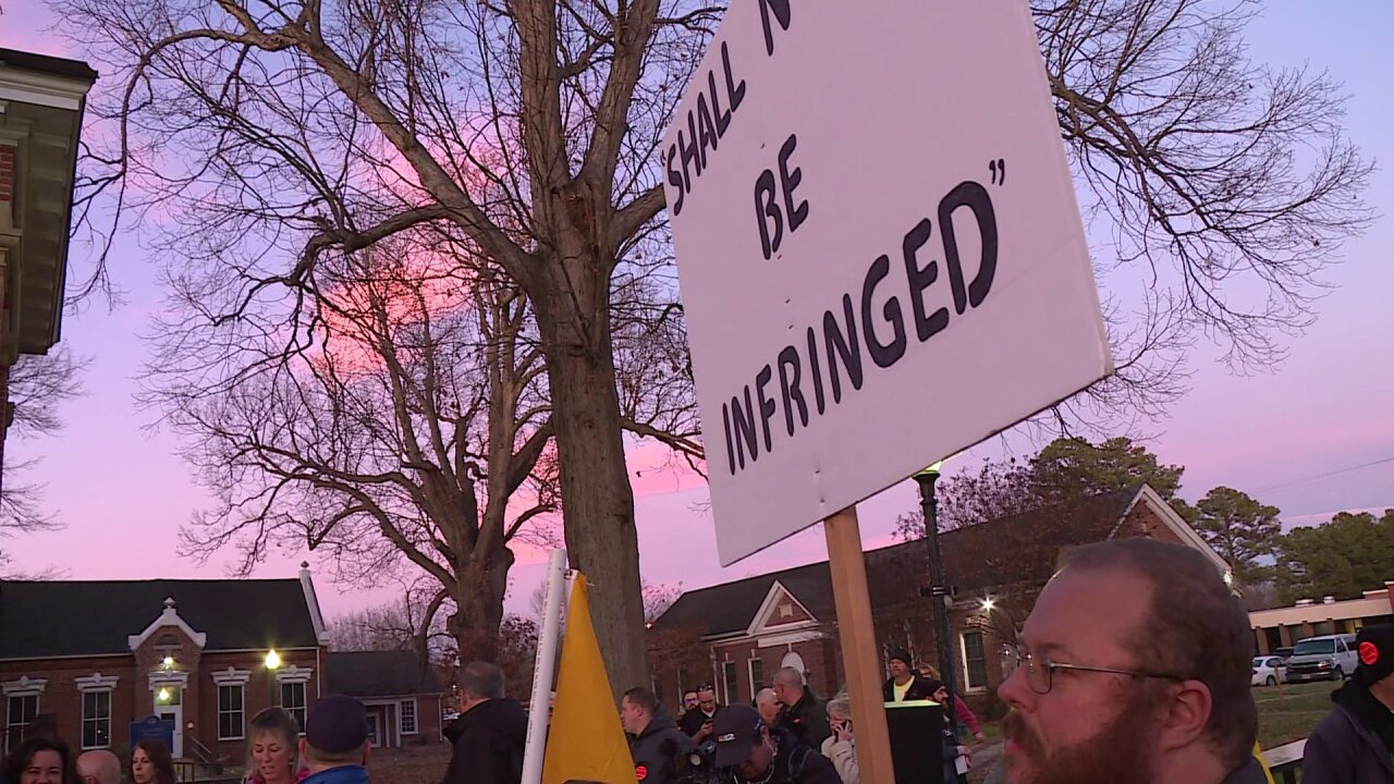 Protesters urge Chesterfield leaders to take up Second Amendment 'sanctuary' resolution