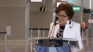 Senator Rosen at McCarran Airport