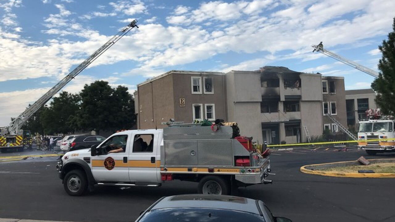 10 transported after Westminster apartment fire