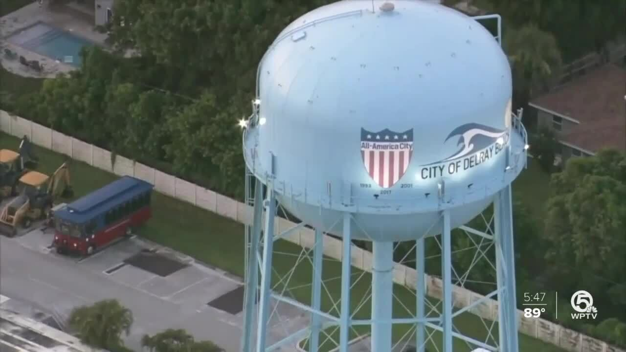 Delray Beach water tower aerial