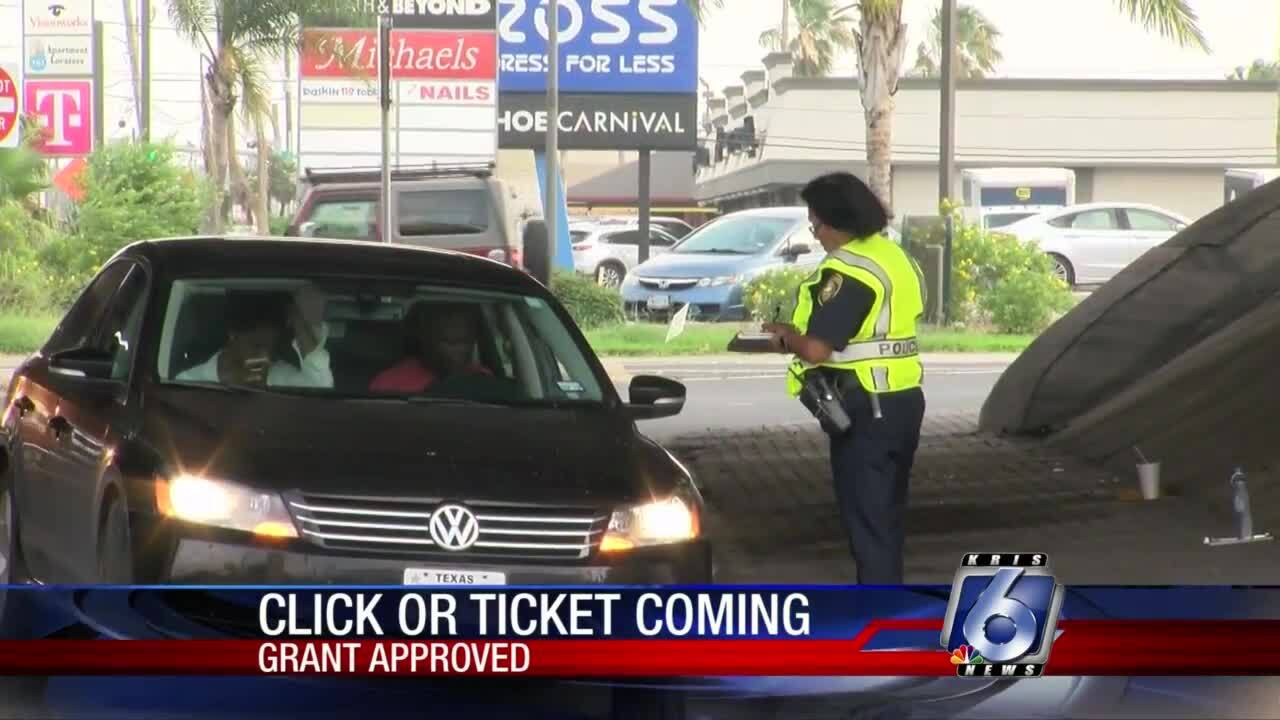 Council accepts grant for Click It or Ticket program