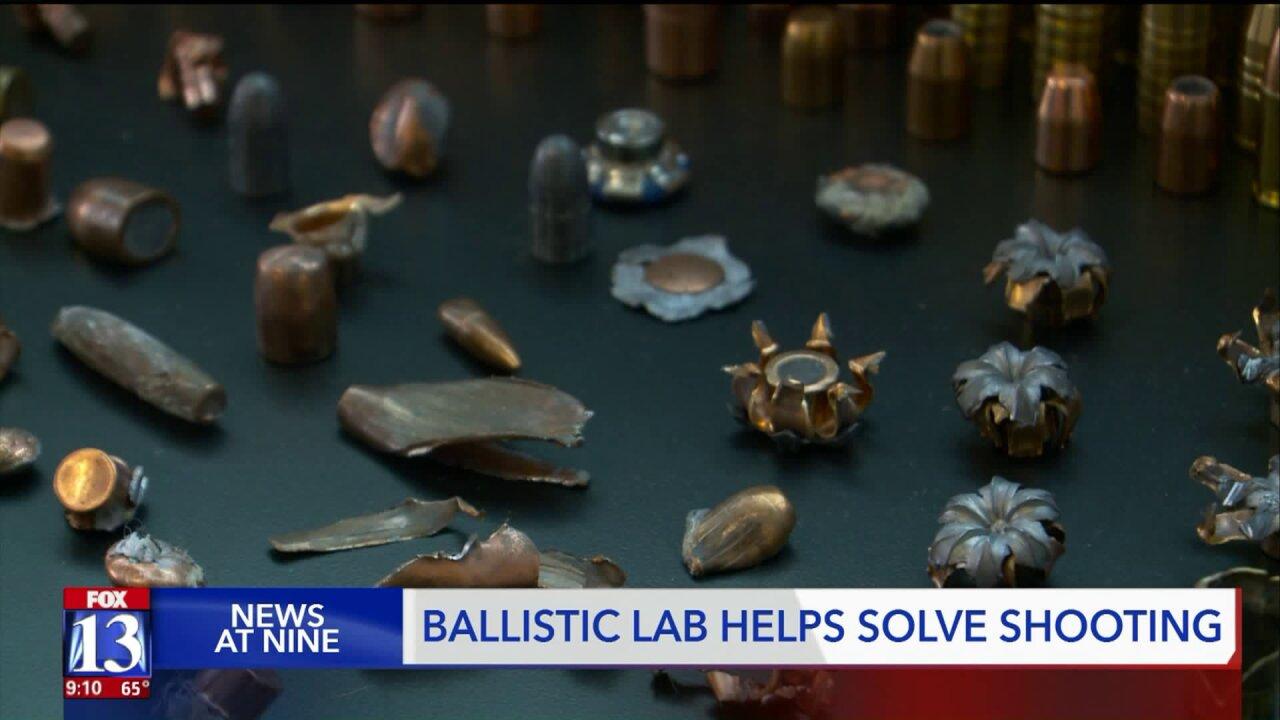 New ballistics lab helps solve crimes, find suspects in Utahshootings