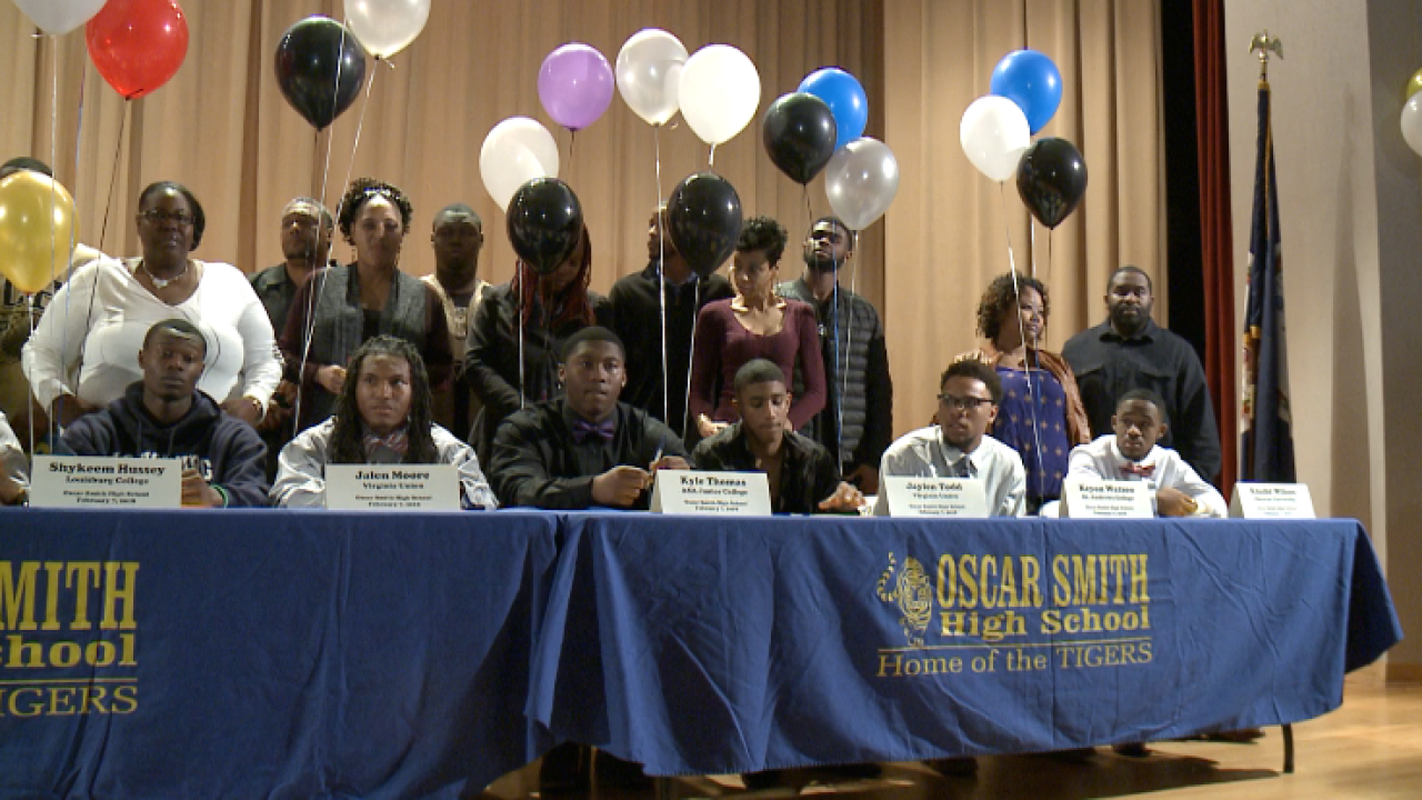 Great eight for Tigers: Oscar Smith High School sends eight to college football ranks