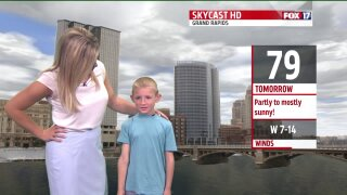 Morning Mix Weather Kid of the Month: Kace from Hudsonville